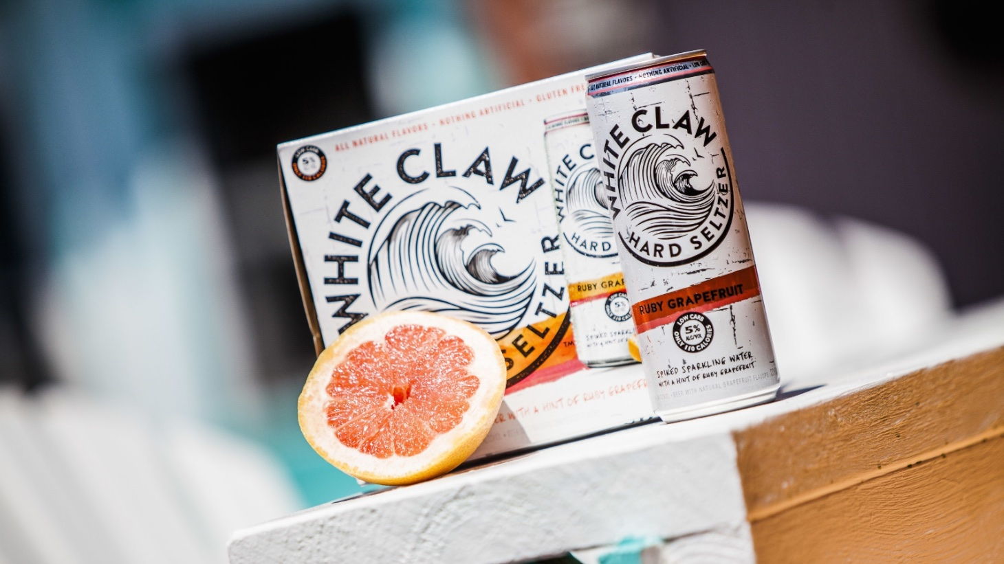 It's just a photo of Exhilarating White Claw Hard Seltzer Label