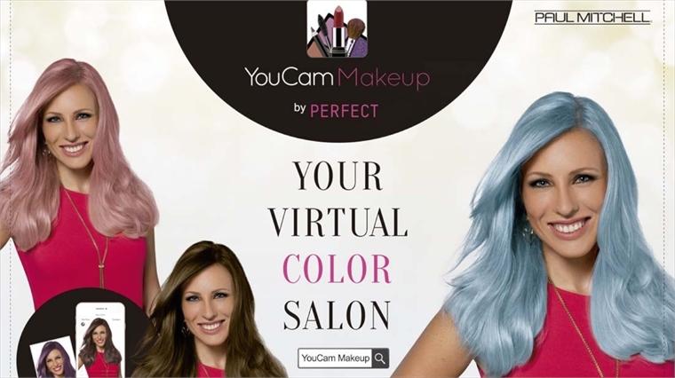 Virtual Colourists Paul Mitchells AR Hair App Stylus - Hairstyle color app