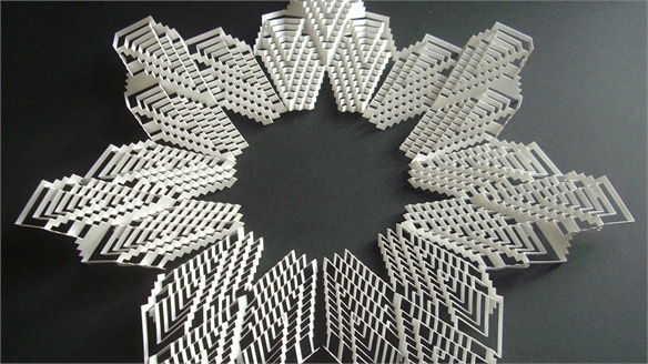 Shape Shifting: Kirigami Inspired Material