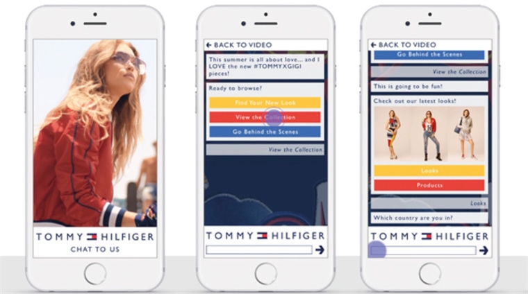 64fc324dc2 Conversational Commerce  Tommy Hilfiger s Video Ad Chatbot