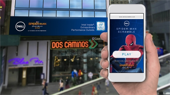 Dell & Spider-Man: Interactive Out-of-Home Game