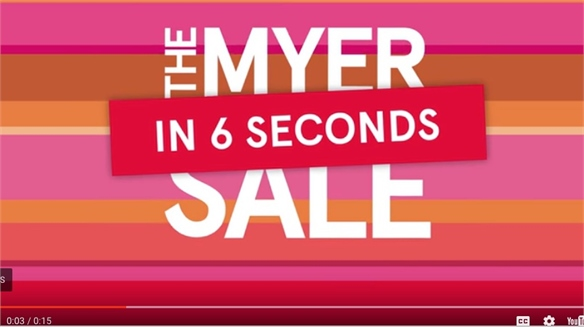 quality design 36569 cadea Rethinking Discounts Myer Taps FOMO with Six-Second Sale Ad
