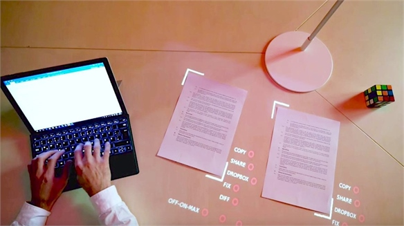 Lampix: Turn Any Surface into an Interactive Display