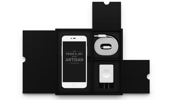 Mobile Phone Packaging Design: Subtle Reveal