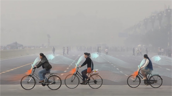 Air-Cleaning Bicycle for Smog-Free Cities