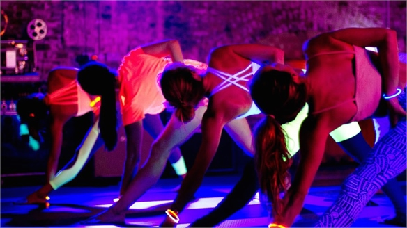 Fluorescent Workouts at St Martins Lane Hotel