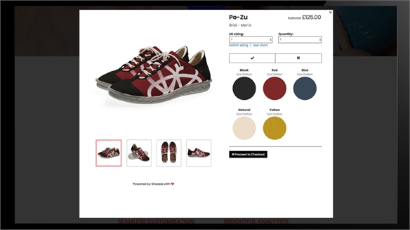 Shoesie Updates E-Customisation