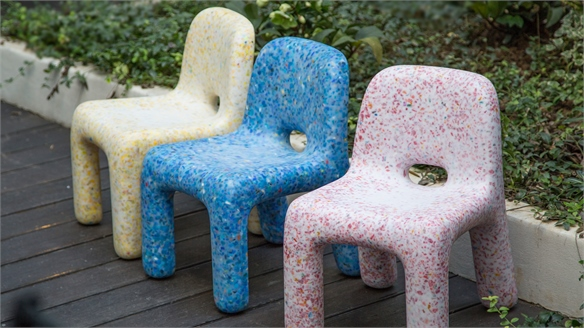 Recycled Plastic Toys Transformed into Kids' Furniture