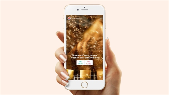 Burger King Turns Instagram Stories into Food Orders