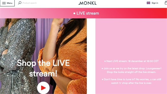 H&M Fast-Fashion Sub-Brand Monki Debuts Live Stream Selling