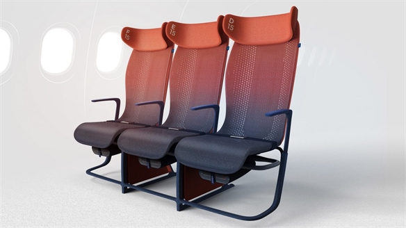 Smart Textile Seating Promotes Healthy Flying