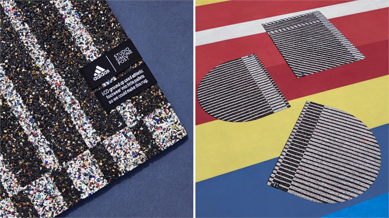 3fcca887042 Adidas Recycles Trainers into Rugs in Designer Collaboration