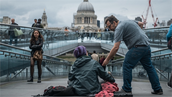 £3 Tap Donations to End London's Homelessness Crisis