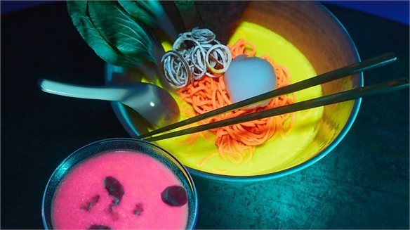 Glow-In-the-Dark Dining Experience