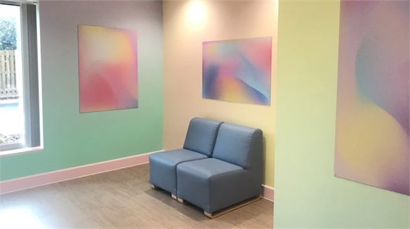 Healing Colour Gradients Calm & Soothe in Hospital Rooms