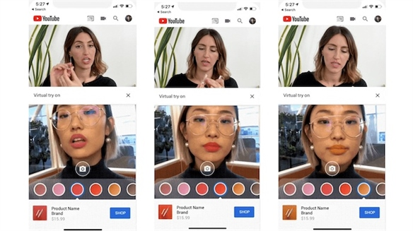 YouTube & Instagram Add AR Product Trials to Beauty Videos