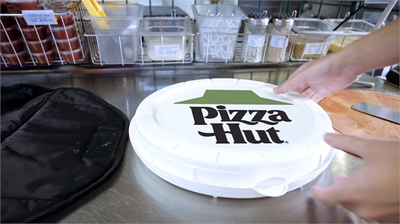 Pizza Hut's Eco-Friendly Circular Pizza Box