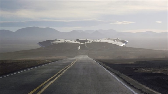 Virgin Galactic's Futuristic Airport for Space Travel