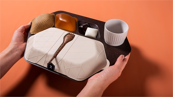 Edible Airline Tableware Eliminates Plastic Waste