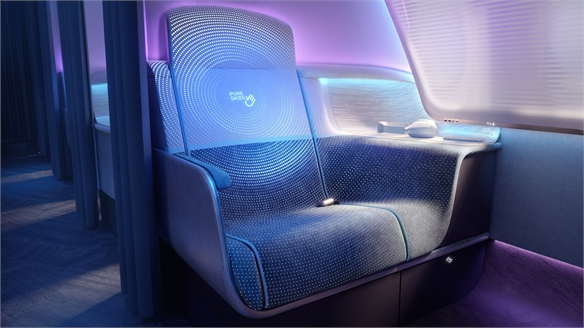 Airplane Design Reassures Hygiene-Conscious Travellers