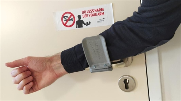 3D-Printed Add-Ons Create No-Touch Door Handles