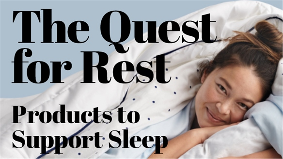 The Quest for Rest: Products to Support Sleep