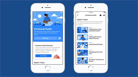 Facebook's Mental Health Hub