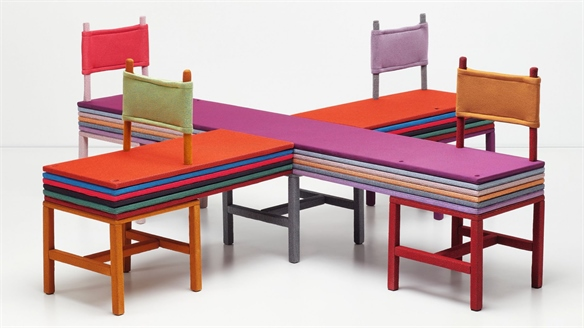 Designers Experiment with Fabric in New Kvadrat Exhibition